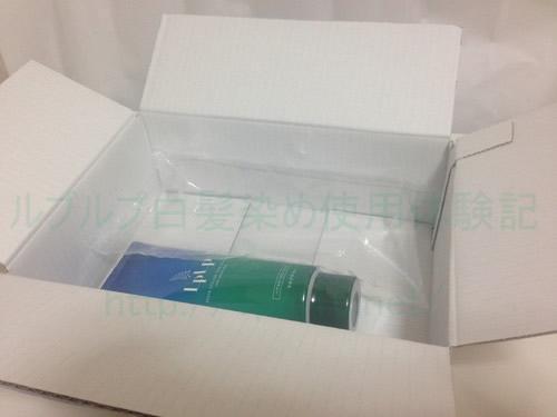 ルプルプ白髪染めが届いた箱にルプルプ本体